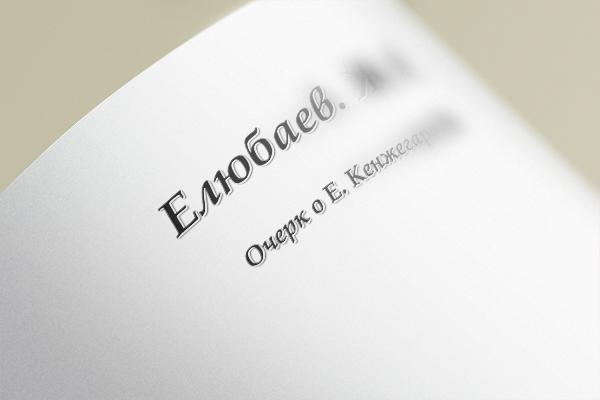 Очерк об Ержане Кенжегариеве